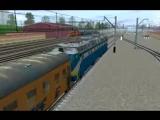 отправление на ЧС8 в Trainz 2009. Все как положено диспечер сообщает об отправлений.