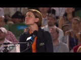The chair umpire are human )