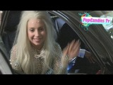 Exclusive! Lady Gaga Looks Sexy while meeting her Little Monsters while departing 2013 AMA Party