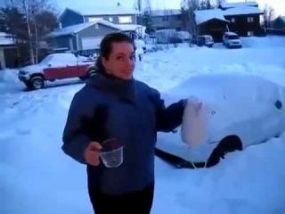 Что происходит с кипятком на морозе в -40