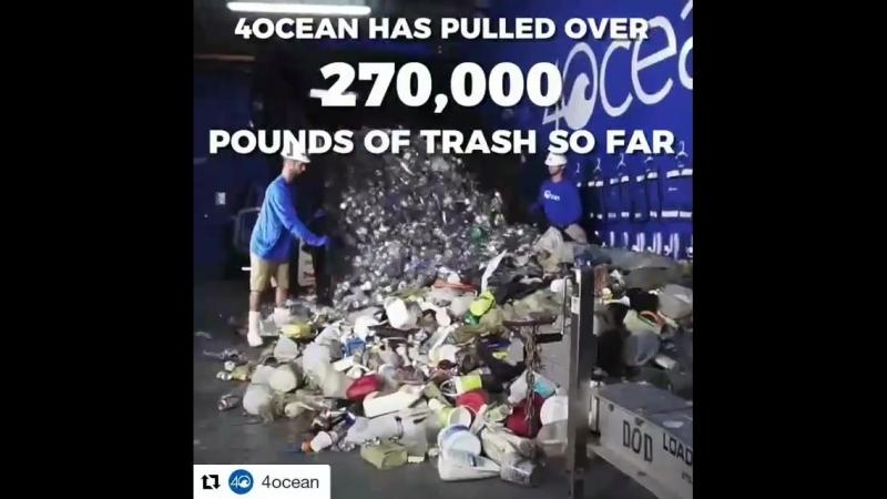 Solid work by @4ocean Get on board! I did. Repost @4ocean (@get_repost) ・・・ 1.4 billion pounds of trash enters the ocean each y