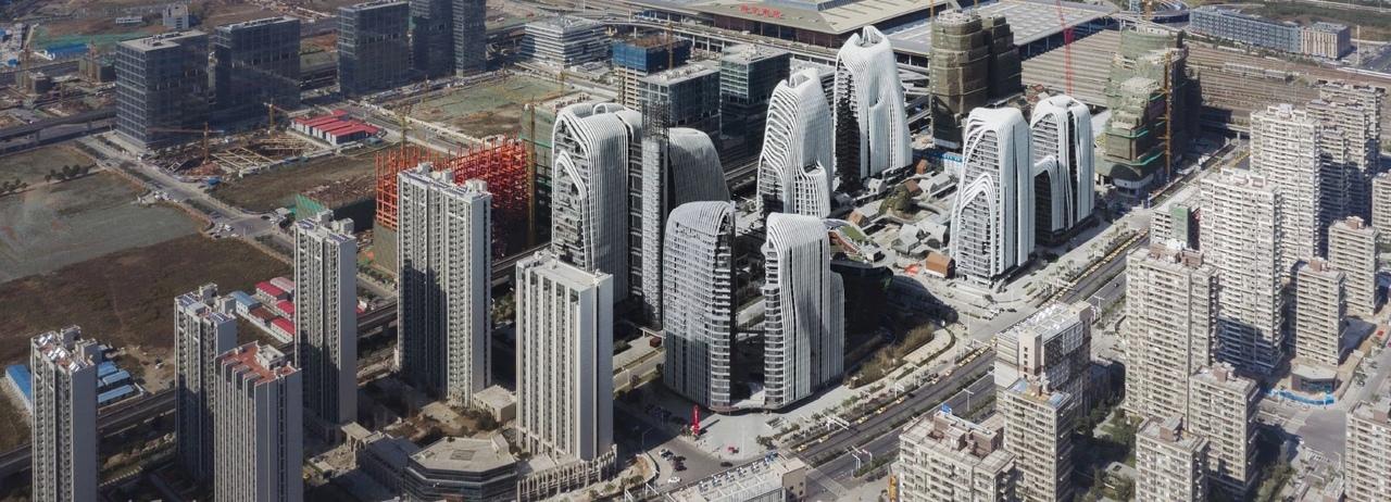 В Китае строят целые районы, стилизованные под природные ландшафты