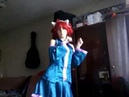 Live Cosplay ω Cutie Cute Kitty Cat 3 Teto Kasane-Chan dance UTAU cover