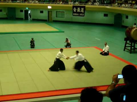Irie Yoshinobu Shihan at the 47th All Japan Aikido demonstration