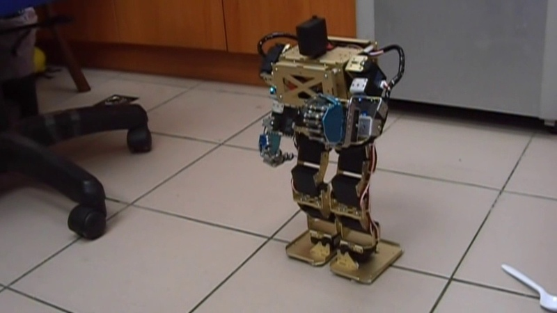Arduino Humanoid Robot with Robotic Palms (帶可控手掌之Arduino人形機器人)