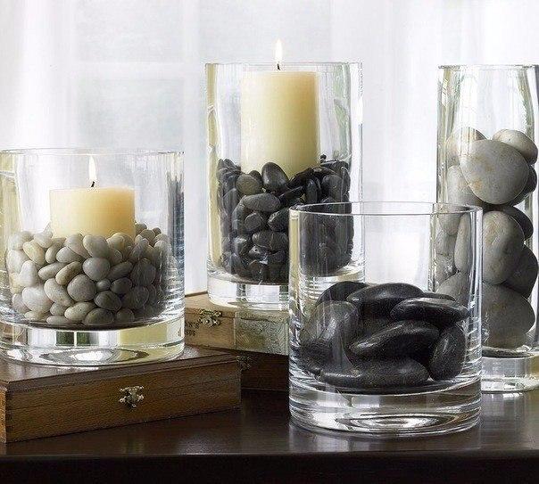Декор из морских камушков