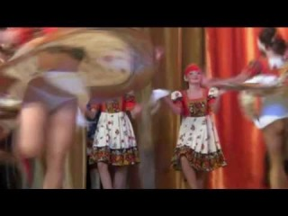 Russian degradation 2014: russian dance show for Putin.Dancers are almost naked