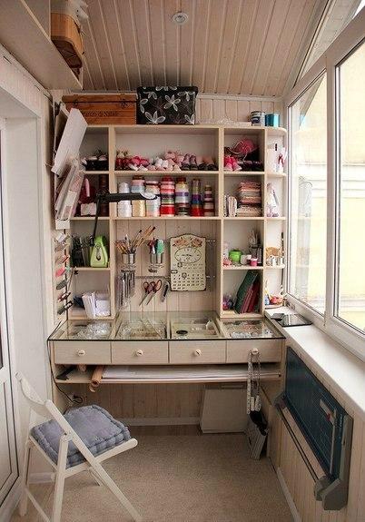 Организация балконного пространства под творческую мастерскую