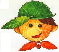мальчик 300x263 Делаем вместе с детьми аппликацию из осенних листьев.