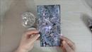 МК Новогодняя Микс Медийная открытка Step by step tutorial mixed media starfall card