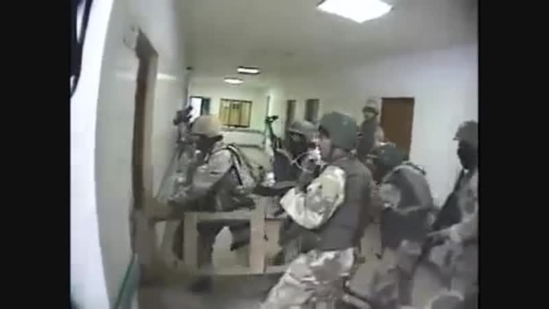 Iraq during the occupation.American special forces in combat operations against