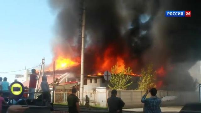 Новости на Россия 24 • В Барнауле сгорел стадион Коммунальщик