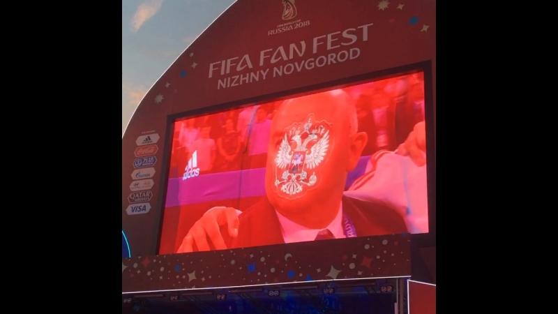 Fifa Fan Fest Nizhniy Novgorod Россия-Хорватия!