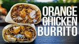 Homemade Orange Chicken Burrito (from Panda Express) SAM THE COOKING GUY 4K