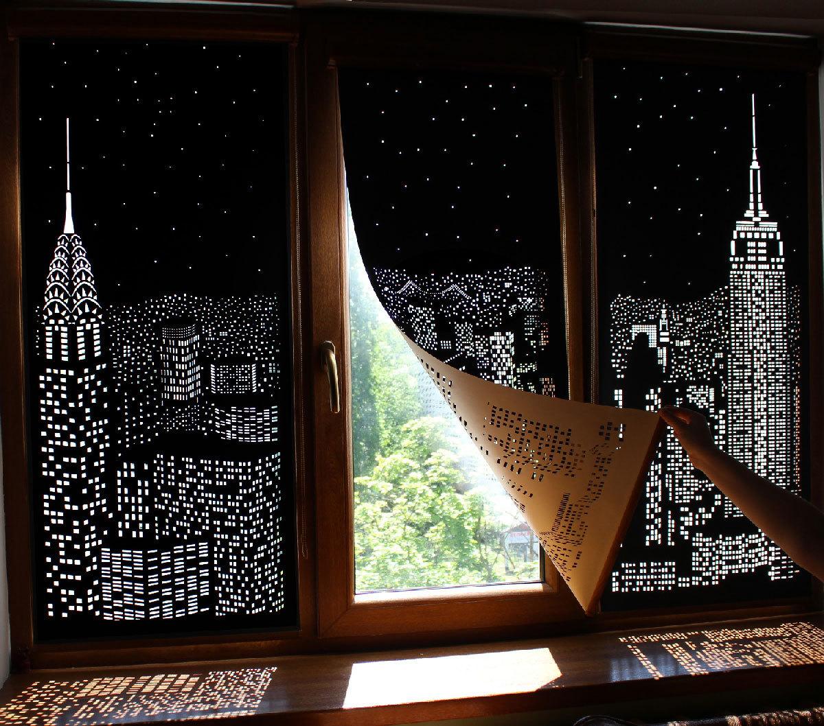 Атмосферные рулонные шторы -