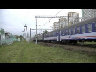 Электровоз ЧС7-049 с поездом № 10 Варшава - Москва