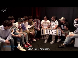 [RUS SUB][20.05.18] BTS Interview by The Morning Mess @ LIVE 101.5 Phoenix