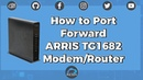 SSL Port Forwarding Home Assistant on the ARRIS TG1682 Modem Router