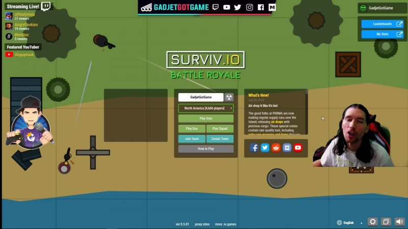 [ENG/ESP] Surviv.io Hungry 4 Chicken Dinners!