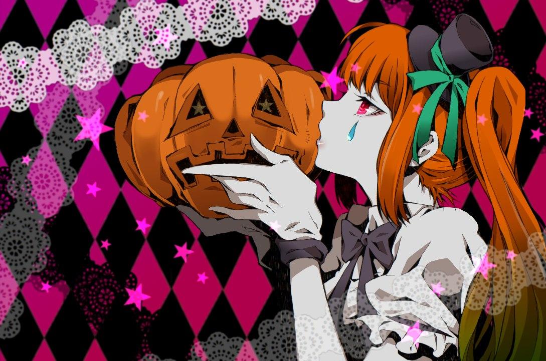 картинки аниме хэллоуин: