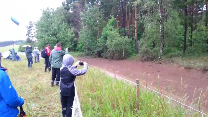 Accident in Orzysz - WRC Rally Poland 2017