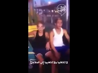 #Video From 2014 war on #Gaza 3 Zionist sitting talking about their courage in the face of #Hamas's rockets.