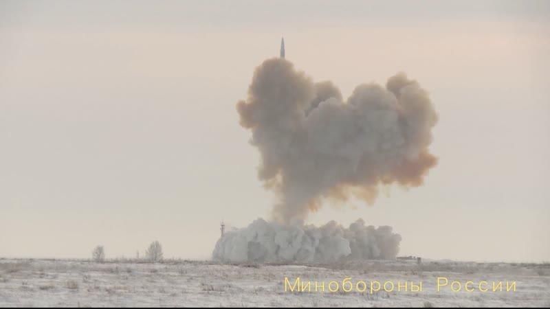 Пуск ракеты комплекса «Авангард» из позиционного района Домбаровский gecr hfrtns rjvgktrcf «fdfyufhl» bp gjpbwbjyyjuj hfqjyf ljv