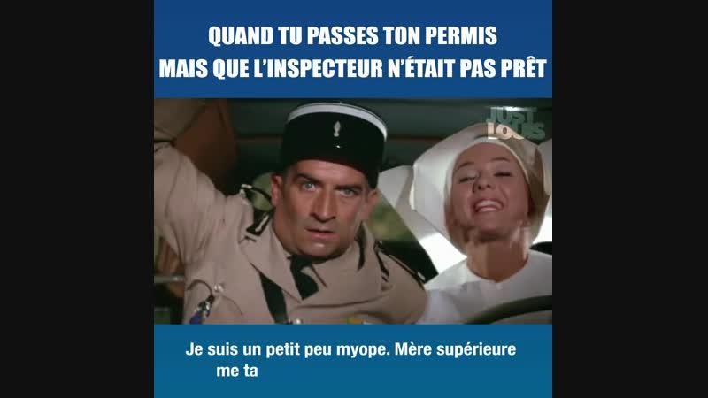 Quand tu passes ton permis mais que l'inspecteur n'était pas prêt !