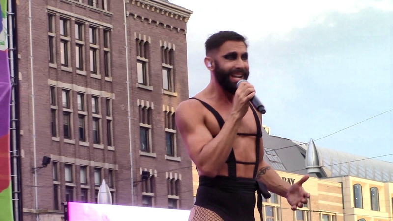 Conchita Wurst zingt Forward en Up for Air op slotfeest Dam, Amsterdam Gay Pride 2019