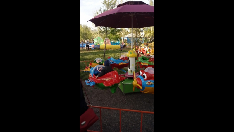 с сыном в парке