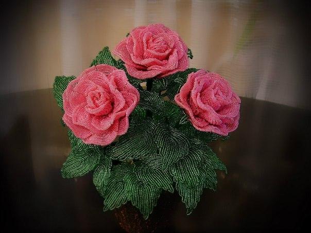 цветы из бисера мастер