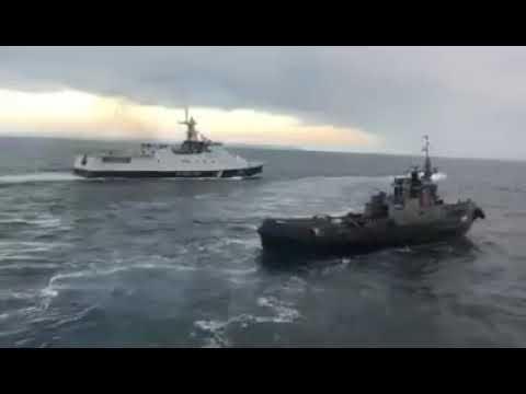 Russisches Schiff rammt ukrainischen Schlepper. Legt euch nicht mit Russen an