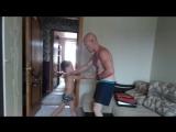 В гостях у деда.. Тренируем удары после 30 минутной физподготовки
