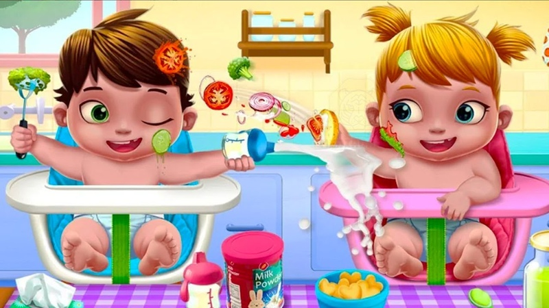 Fun Baby Care Kids Games - Baby Twins Babysitter - Play Newborn Care Bath Time Games