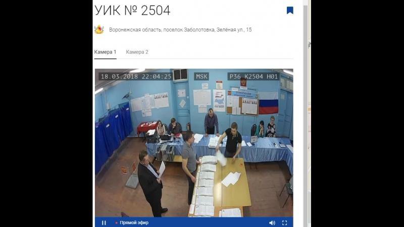 Выборы 20 8 Воронежская обл Ольховатский р он УИК 2504 Заболотовская СОШ