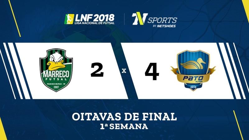 LNF2018 Marreco 2 x 4 Pato Gols Oitavas Ida
