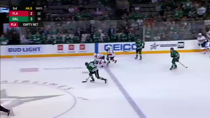 GOTTA SEE IT- Mike Hoffman Whips Stick At Alex Radulov Trying To Stop Empty Net .mp4