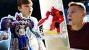 Трансформеры в Иннопарке - Мегатрон vs Оптимус Прайм - Видео для детей.
