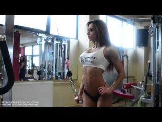 Petra Szabo Fitness Model Gym Photoshooting Video Part I