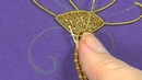 Hand Embroidery - Goldwork tutorial. Part 4 - couching gold threads.
