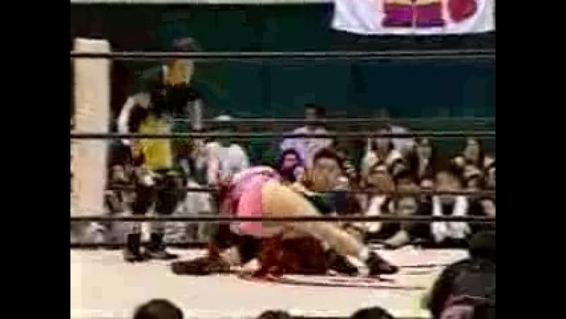 Chikayo Nagashima, Toshie Uematsu vs. Aja Kong, Mayumi Ozaki