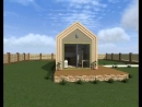 Проект жилого модуля по каркасной технологии.