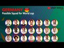 GERMANY Football Team's (Possible) Squad for FIFA World Cup 2018