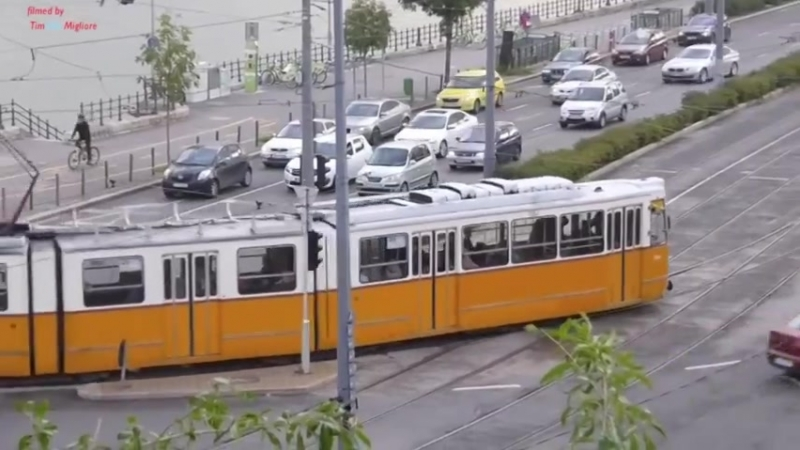 Trams in Budapest, Hungary 2015 - (various models)