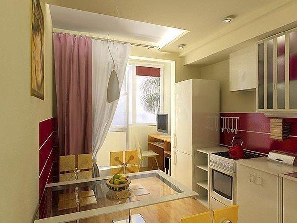 Присоединение балкона к кухне (1 фото) - картинка