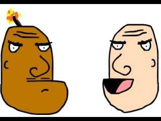 Чёрный и белый почти братья близнецы