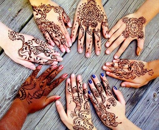 Росписи на руке фото