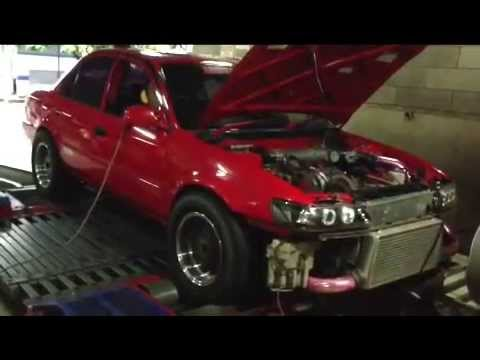 Dyno tuning Haltech E8 - Toyota Great Corolla 3S-GTE AWD