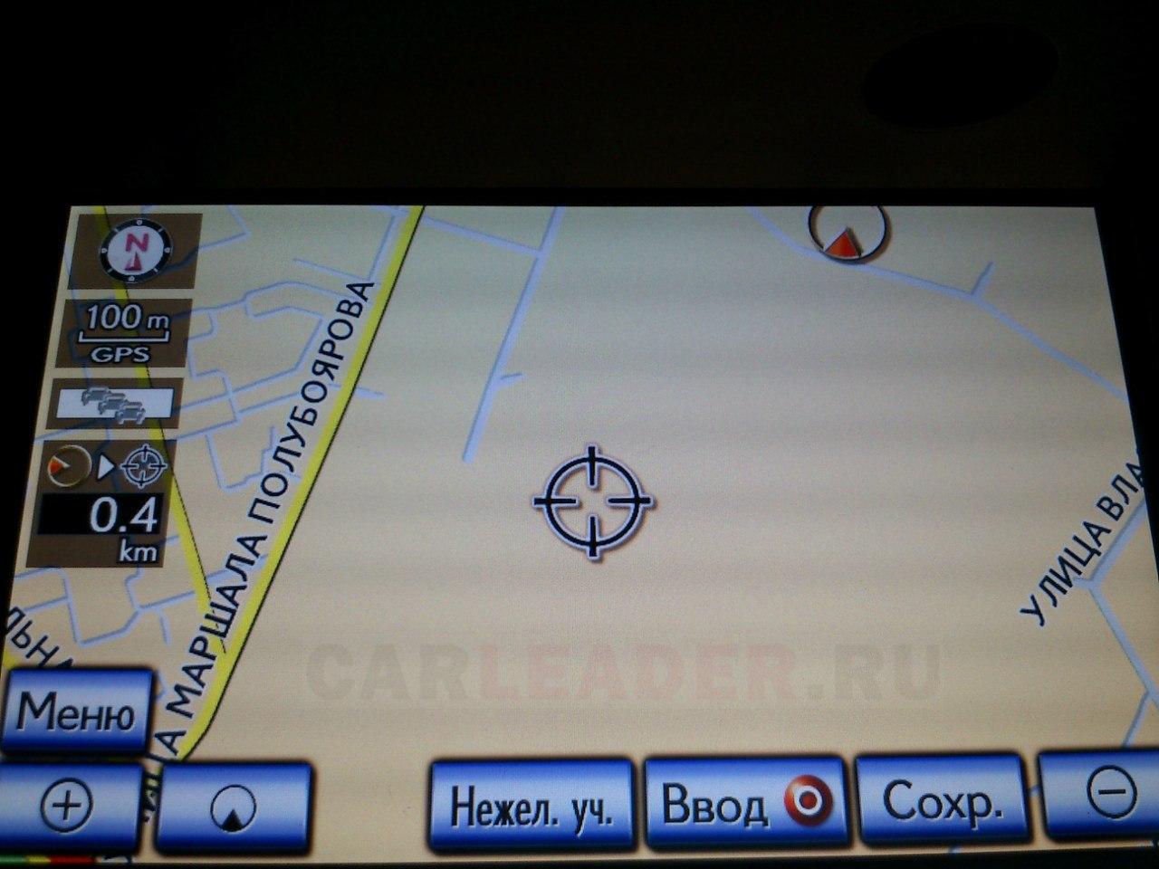 Карта Lexus