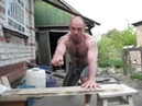 Man Hammers Nails With Bare Hands Hammers Russians Dont Need Hammers